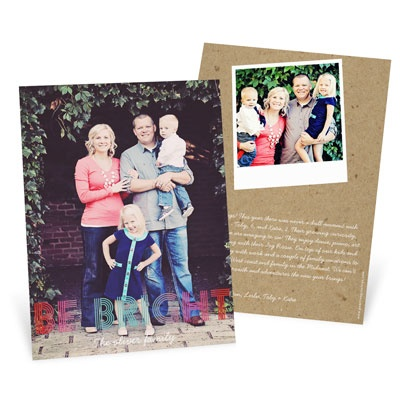 Ombre Greeting Vertical Photo Christmas Cards