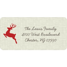 Reindeer Games -- Christmas Address Labels