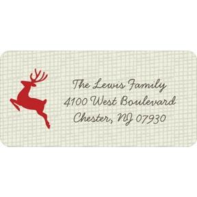 Reindeer Games -- Christmas Address Labels
