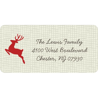Reindeer Games Christmas Address Labels