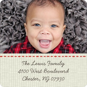 In Stitches -- Christmas Address Labels
