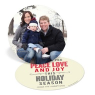 Circle of Peace Love Joy Religious Christmas Cards