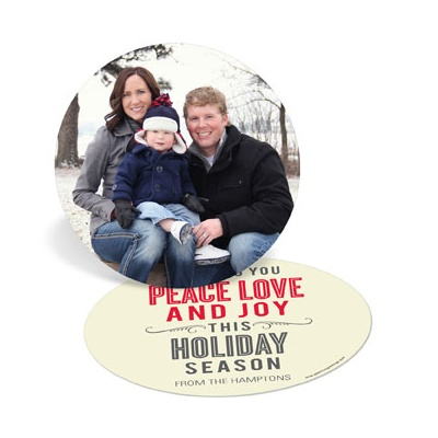 Circle of Peace Love Joy Photo Christmas Cards