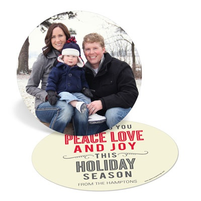 Circle of Peace Love Joy Holiday Photo Cards