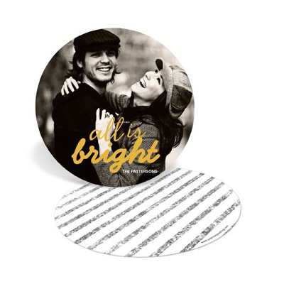 Bright Circle Holiday Photo Cards