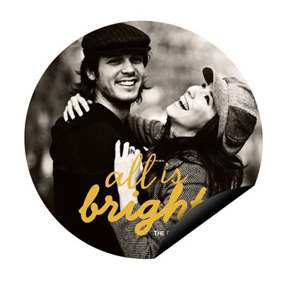 Bright Circle Magnet Holiday Photo Cards