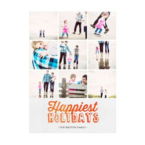 Photo Paper Happiest Holidays Collage -- Christmas Cards