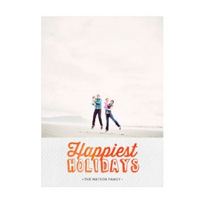Photo Paper Happiest Holidays Single Photo -- Christmas Cards