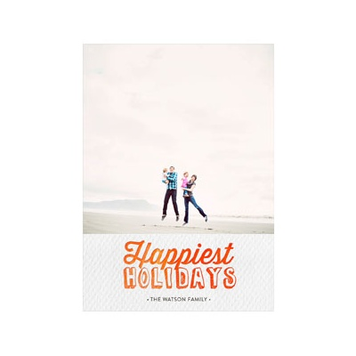 Photo Paper Happiest Holidays Single Photo Photo Christmas Cards