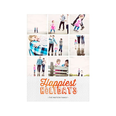 Photo Paper Happiest Holidays Collage Holiday Photo Cards