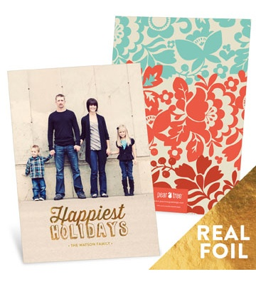 Christmas Cards  -- Gold Foil Holidays