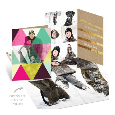 Kaleidoscope Poster Holiday Photo Cards