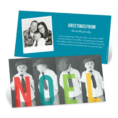Four Letter Greeting Holiday Photo Cards