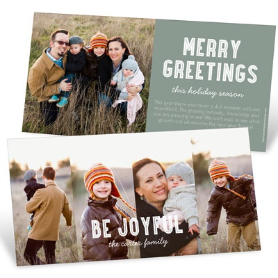 Four Across Holiday Photo Cards