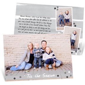 Gray Sequin Look -- Holiday Photo Cards