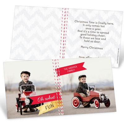Twine Look Photo Christmas Cards
