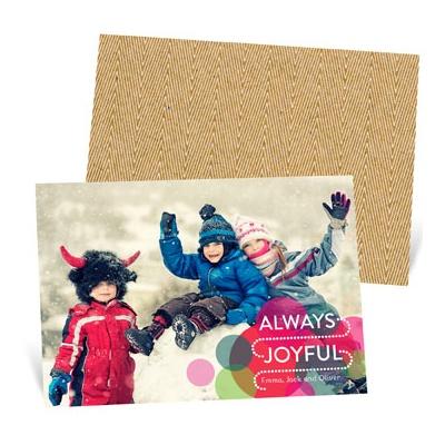 Bright Circles Photo Christmas Cards