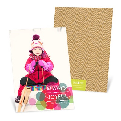 Bright Circles Vertical Photo Christmas Cards