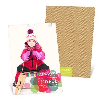 Bright Circles Vertical Holiday Photo Cards