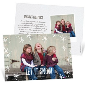 Snow Day Horizontal -- Christmas Cards