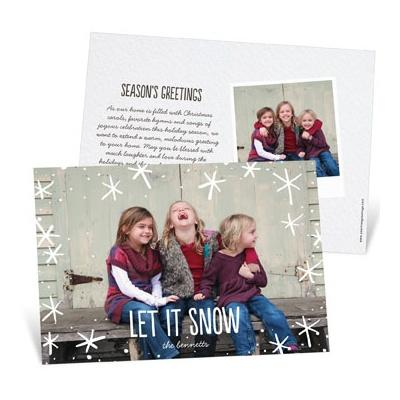 Snow Day Horizontal Photo Christmas Cards