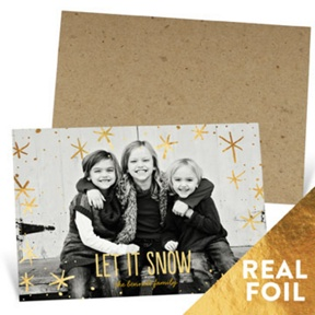 Foil Snowflakes -- Christmas Cards