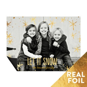 Foil Snowflakes Magnet -- Christmas Cards
