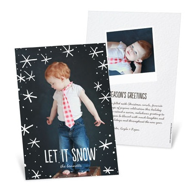 Snow Day Vertical Holiday Photo Cards