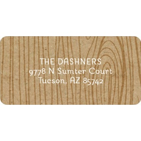 Wood Grain -- Christmas Address Labels