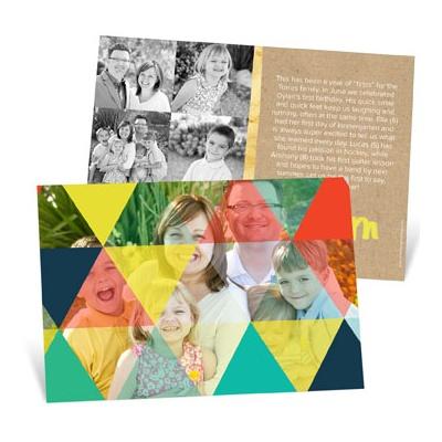 Kaleidoscope Horizontal Holiday Photo Cards