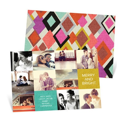 Patchwork Of Photos Holiday Photo Cards