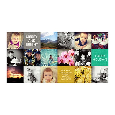Photo Paper Patchwork Holiday Photo Cards