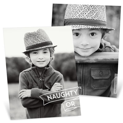 Split Personality Photo Christmas Cards