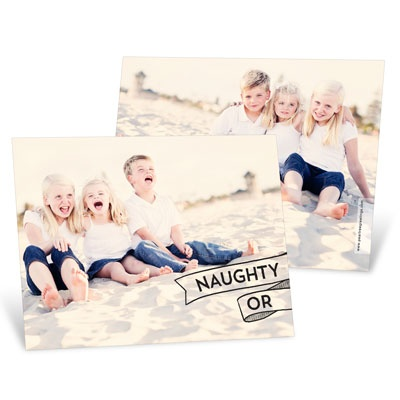 Split Personality Horizontal Photo Christmas Cards