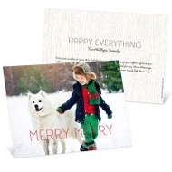 Merry Merry Horizontal Christmas Cards