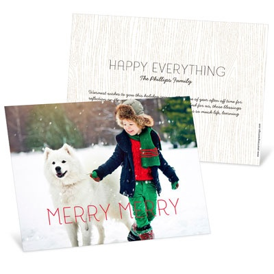 Merry Merry Horizontal Holiday Photo Cards