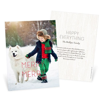 Merry Merry Vertical Photo Christmas Cards