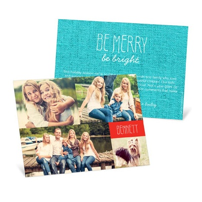 Four Photo Collage Photo Christmas Cards
