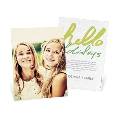 Full Photo Greeting Vertical Photo Christmas Cards