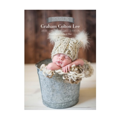 Photo Paper Introduce Me Vertical Baby Boy Announcements