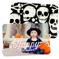 Happy Lights Horizontal Halloween Photo Cards