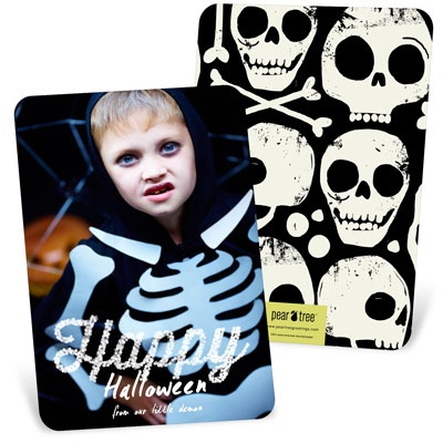 Happy Lights Vertical Halloween Photo Cards