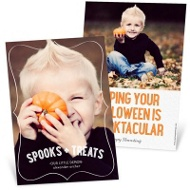 Frame It Vertical Halloween Photo Cards