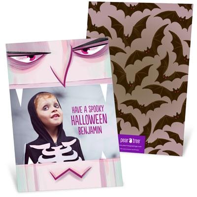 Vampire Bite Halloween Photo Cards