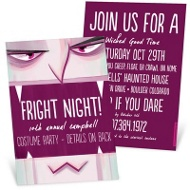 Vampire Bite Halloween Invitations