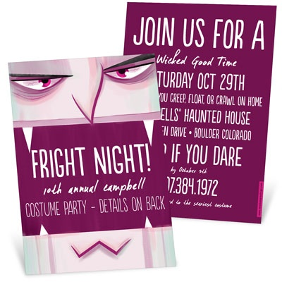Vampire Bite Halloween Invitations