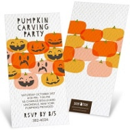 Grins And Grimaces Halloween Invitations