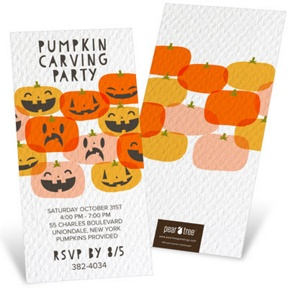 Grins And Grimaces -- Halloween Invitations