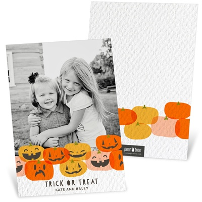 Grins And Grimaces Halloween Photo Cards