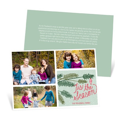 Winter Branches With Photos Photo Christmas Cards